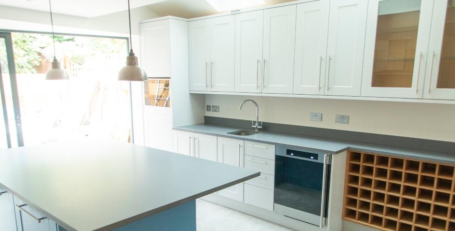 inside kitchen extension