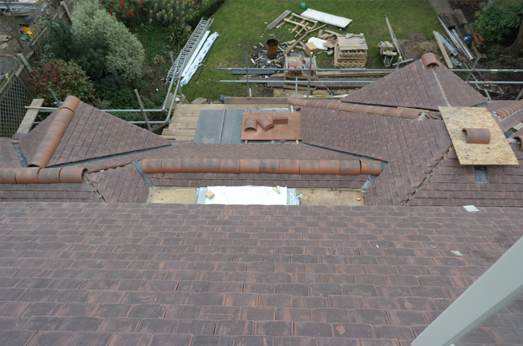 roof in refurbishment